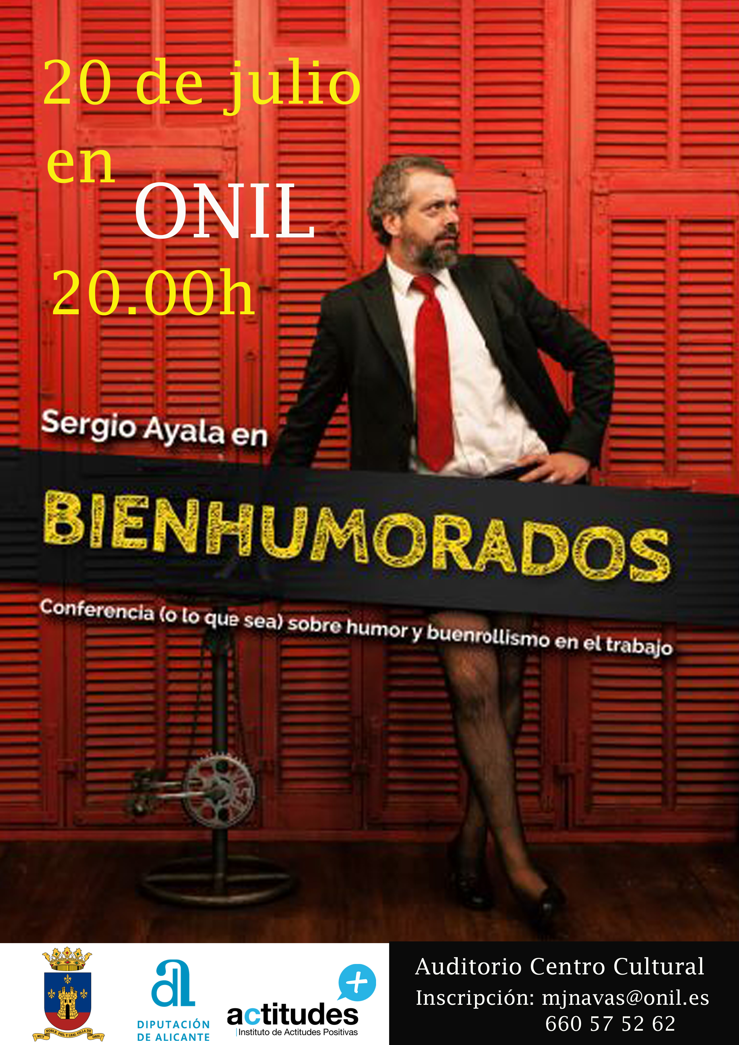 Conferencia Sergio Ayala bienhumorados