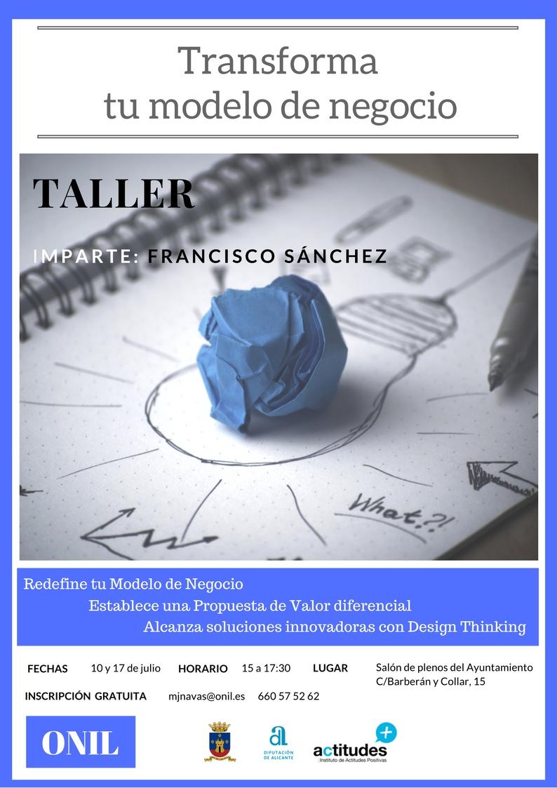 Taller Transforma tu modelo de negocio