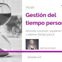 Taller Gestión del tiempo personal, con Natalia Ruiz